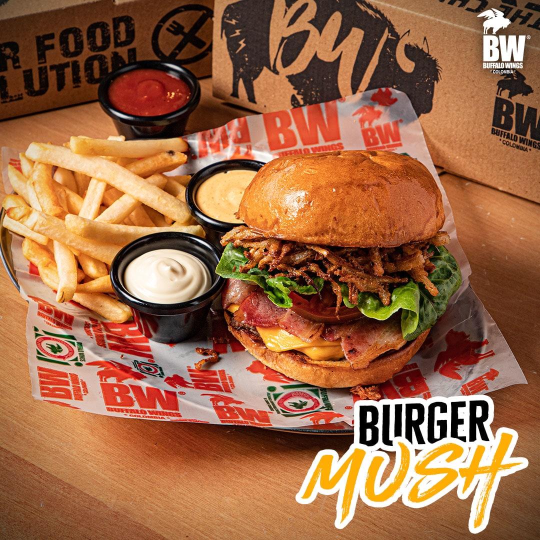 Burger-Buffalo-Wings